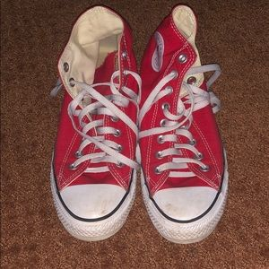 Converse Shoes - Hightop Red Converse